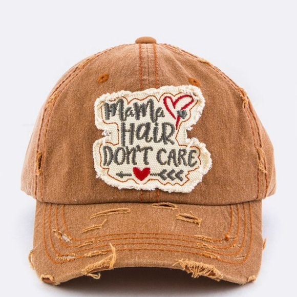 fbd47abea Lana Bean Jewels Accessories | Mama Hair Dont Care Distressed Hat ...